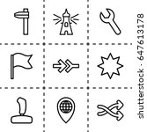 direction icon. set of 9... | Shutterstock .eps vector #647613178