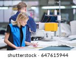 seamstress textile factory      ... | Shutterstock . vector #647615944
