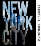 photo print new york... | Shutterstock . vector #647620888