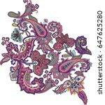 multicolor paisley ornament...