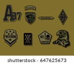 set of army badge typography  t ... | Shutterstock .eps vector #647625673