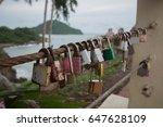key padlocked and locked... | Shutterstock . vector #647628109