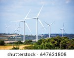 eolic park renewable and...   Shutterstock . vector #647631808