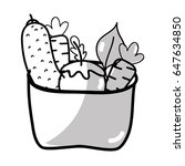 silhouette fresh and delicious... | Shutterstock .eps vector #647634850