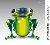 big green frog image of a... | Shutterstock .eps vector #647635714