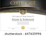 certificate collection retro... | Shutterstock .eps vector #647635996