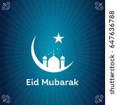 beautiful ramadan kareem... | Shutterstock .eps vector #647636788
