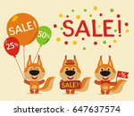 set for design sale with... | Shutterstock .eps vector #647637574