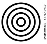 target vector icon  | Shutterstock .eps vector #647643919
