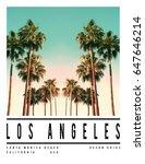 photo print california palm...   Shutterstock . vector #647646214