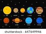 the solar system  the milky way ... | Shutterstock .eps vector #647649946