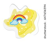 paper art concepts and rainbow.  | Shutterstock .eps vector #647656594