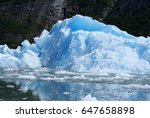 glacial area in tracy arm | Shutterstock . vector #647658898