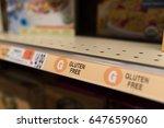 gluten free labels in the...   Shutterstock . vector #647659060