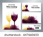 wine glasses with background... | Shutterstock .eps vector #647660653