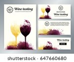 wine glasses with background... | Shutterstock .eps vector #647660680
