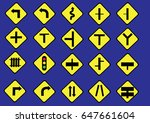 traffic signs | Shutterstock .eps vector #647661604