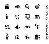 business opportunities icons    ... | Shutterstock .eps vector #647662429