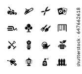 gardening icons    black series ... | Shutterstock .eps vector #647662618