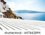 white wooden floor background... | Shutterstock . vector #647662894