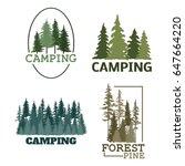 tree outdoor travel green... | Shutterstock .eps vector #647664220