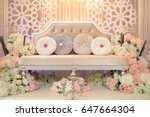 Small photo of wedding dais is specially created in a traditional Malay wedding.It is usually grandly designed and gaily decorated, to create some symbolism of a king and queen sitting in state.