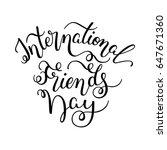 hand lettering international... | Shutterstock .eps vector #647671360