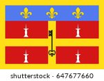 flag of le mans is a city in...   Shutterstock .eps vector #647677660