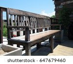 old wooden bench for relax time ... | Shutterstock . vector #647679460