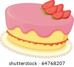 illustration of a cake on a... | Shutterstock .eps vector #64768207