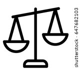justice scale vector icon | Shutterstock .eps vector #647682103