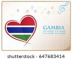 heart logo made from the flag...   Shutterstock .eps vector #647683414