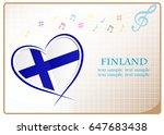 heart logo made from the flag...   Shutterstock .eps vector #647683438