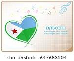 heart logo made from the flag...   Shutterstock .eps vector #647683504
