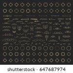 a huge rosette wicker border... | Shutterstock . vector #647687974