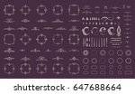circle and square wicker... | Shutterstock . vector #647688664