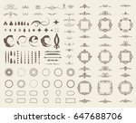 circle and square wicker... | Shutterstock . vector #647688706