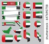 set of united arab emirates...   Shutterstock .eps vector #647690758