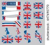 set of united kingdom maps ...   Shutterstock .eps vector #647690770
