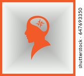 human head in silhouette with... | Shutterstock .eps vector #647693350