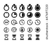 hour glass   clock icons | Shutterstock .eps vector #647697220