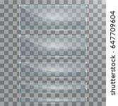 vector modern transparent glass ... | Shutterstock .eps vector #647709604