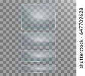 vector modern transparent glass ... | Shutterstock .eps vector #647709628