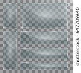 vector modern transparent glass ... | Shutterstock .eps vector #647709640