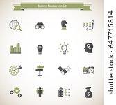 business solutions   vector... | Shutterstock .eps vector #647715814