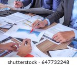 business people meeting to... | Shutterstock . vector #647732248