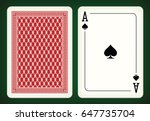 ace of spades   playing cards... | Shutterstock .eps vector #647735704