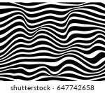 black and white stripes waves... | Shutterstock . vector #647742658