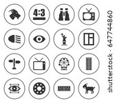 Set Of 16 View Filled Icons...