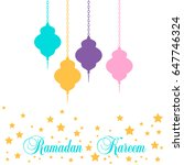 ramadan kareem lantern in a... | Shutterstock .eps vector #647746324